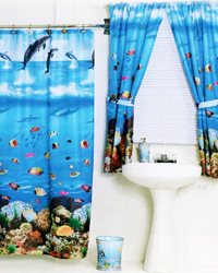Seascape Shower Curtain by