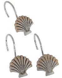 Seaside Shower Curtain Hooks Silver by
