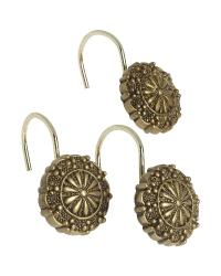 Sheffield Shower Curtain Hooks Antique Gold by