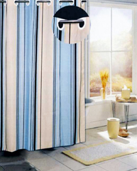 Stripes Shower Curtain Blue by