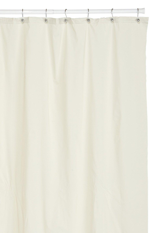 Hotel Quality 8 Gauge Vinyl Shower Curtain Liner Bone