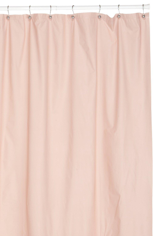Hotel Quality 8 Gauge Vinyl Shower Curtain Liner Rose