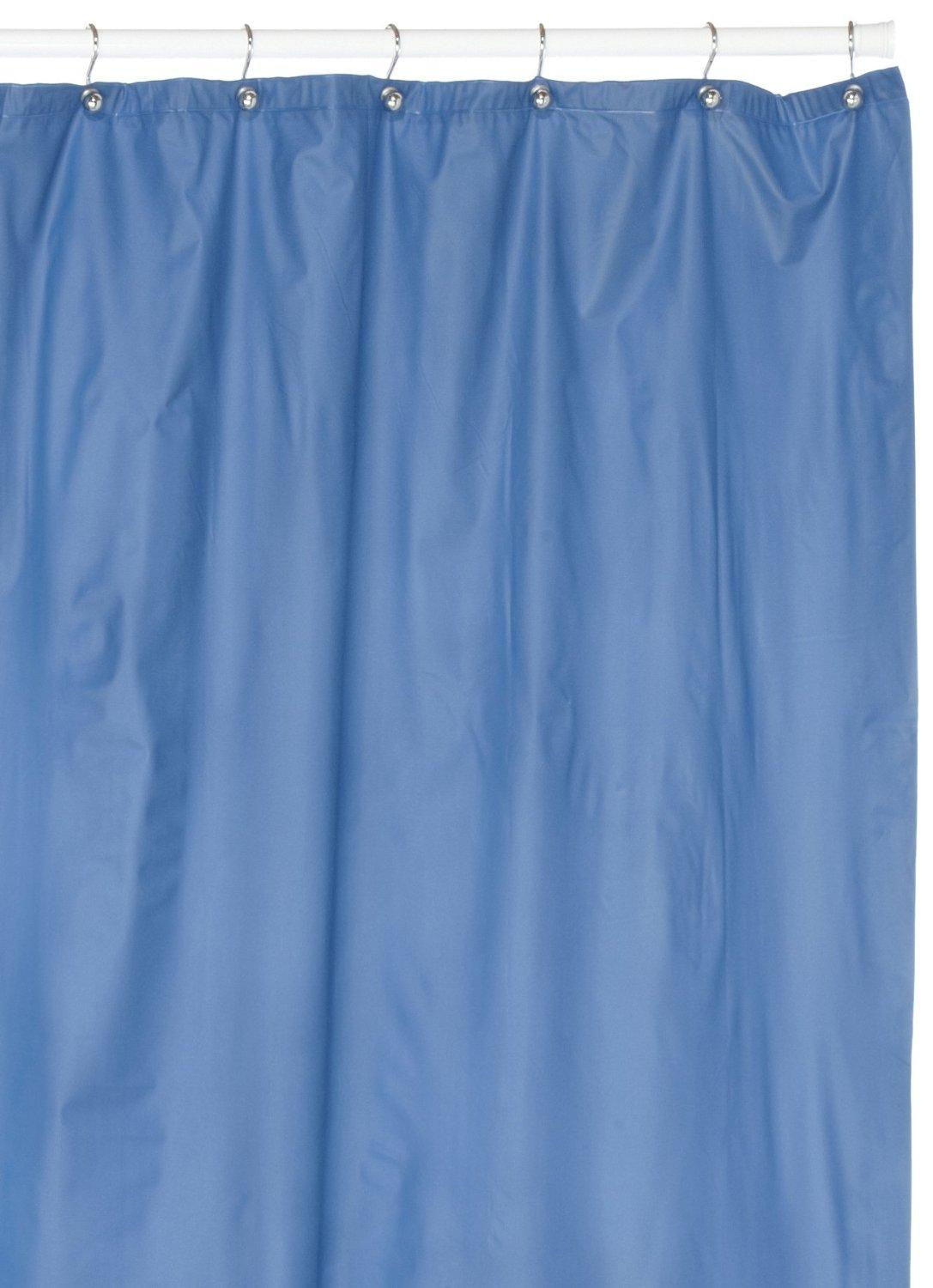 Solid Blue Shower Curtain Elegant Shower Curtains View In Gallery