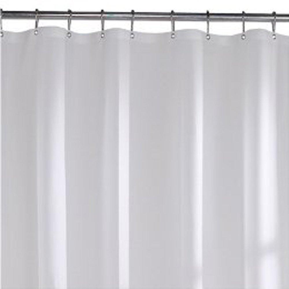 Standard 10 Gauge Vinyl Shower Curtain Liner Frosty - InteriorDecorating