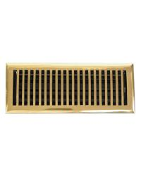 Contemporary Polished Brass Floor Register  Return Air Grill by