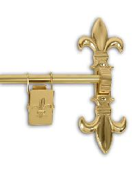 Fleur de Lis Tapestry Hanger Set - Polished Brass by