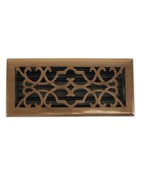 Victorian Antique Brass Floor Register  Return Air Grill by