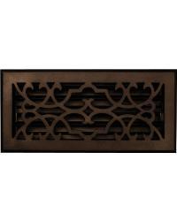 Victorian Bronze Floor Register Return Air Grill by