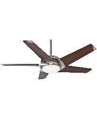 Stealth DC 54in Brushed Nickel Fan by