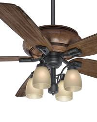 Heathridge Aged Steel 60in Ceiling Fan Damp by