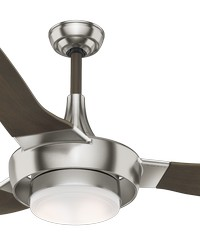 Perseus Brushed Nickel 64in Ceiling Fan Damp by