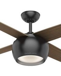 Valby Matte Black 54in Ceiling Fan by