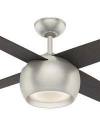 Valby Matte Nickel 54in Ceiling Fan by