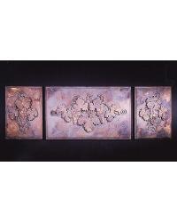 Vintage Grape Panels 3pc.  by