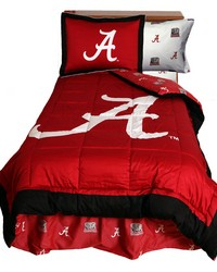 Alabama Crimson Tide Reversible Comforter Set  Twin by