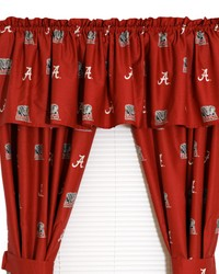 Alabama Crimson Tide Printed Curtain Panels 42 in  x 63 in  by