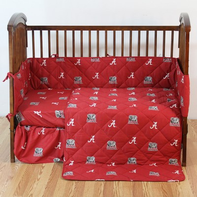 College Covers Alabama Crimson Tide Crib Bedding Set  College Baby Bedding