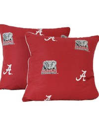 Alabama Crimson Tide 16 in  x 16 in  Decorative Pillow  Includes 2 Decorative Pillows by