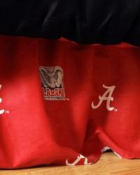 Alabama Crimson Tide Printed Dust Ruffle  Twin by