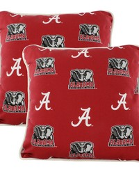 Alabama Crimson Tide Outdoor Decorative Pillow Pair  2 16 in  x 16 in  Pillows by