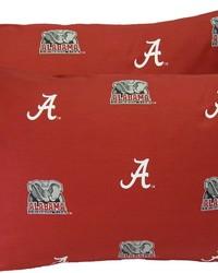 Alabama Crimson Tide Pillowcase Pair  Solid by