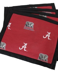 Alabama Crimson Tide Placemat w Border Set  of 4 by