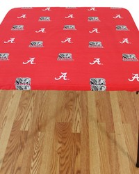 Alabama Crimson Tide Card Table Cover  33 in  x 33 in  by