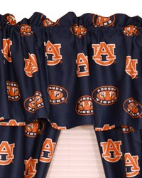 Auburn Tigers Printed Curtain Valance  84 in  x 15 in  by