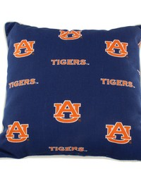 Auburn Tigers Outdoor Decorative Pillow 16 in  x 16 in  by