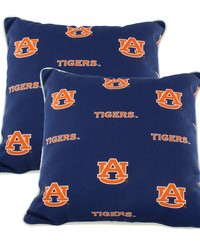 Auburn Tigers Outdoor Decorative Pillow Pair  2 16 in  x 16 in  Pillows by