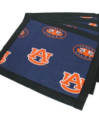 Auburn Tigers Placemat w Border Set  of 4 by