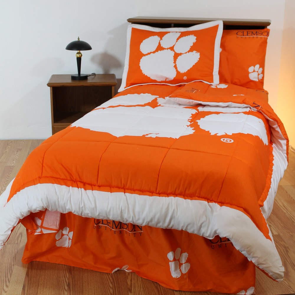 Ncaa Clemson Tigers Full Bed Set Orange Cotton Bedding: Clemson Tigers Bed-in-a-Bag Set
