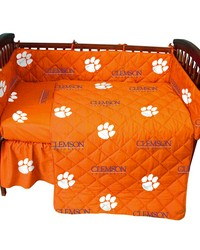 Clemson Tigers  Baby Crib Fitted Sheet Pair  Solid Includes 2 Fitted sheets by
