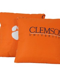 Clemson Tigers 16 in  x 16 in  Decorative Pillow  Includes 2 Decorative Pillows by