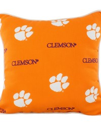 Clemson Tigers Outdoor Decorative Pillow 16 in  x 16 in  by