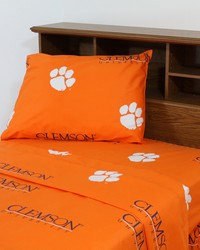 Clemson Tigers Sheet Set - Orange by