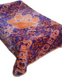 Clemson Tigers Throw Blanket   Bedspread by