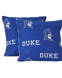 Duke Blue Devils 16 in  x 16 in  Decorative Pillow  Includes 2 Decorative Pillows by