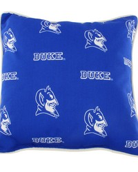 Duke Blue Devils Outdoor Decorative Pillow 16 in  x 16 in  by