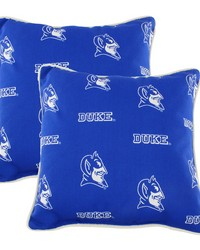Duke Blue Devils Outdoor Decorative Pillow Pair  2 16 in  x 16 in  Pillows by