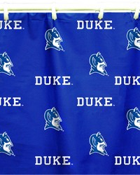 Duke Blue Devils Printed Shower Curtain Cover  70 in  x 72 in  by