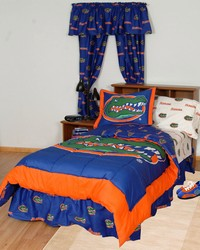 Florida Gators Bed in a Bag Twin  With White Team Sheets by