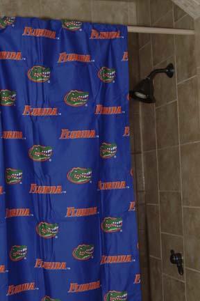 Florida gators standard shower curtain interiordecorating - Florida gators bathroom decor ...