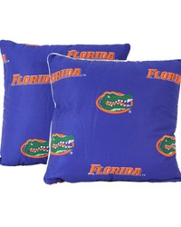 Florida Gators 16 in  x 16 in  Decorative Pillow  Includes 2 Decorative Pillows by