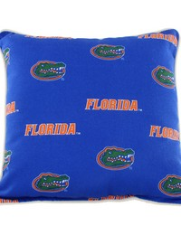 Florida Gators Outdoor Decorative Pillow 16 in  x 16 in  by