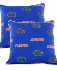 Florida Gators Outdoor Decorative Pillow Pair  2 16 in  x 16 in  Pillows by