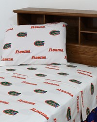 Florida Gators Sheet Set - White by