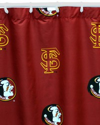 Florida State Seminoles Printed Shower Curtain Cover  70 in  x 72 in  by