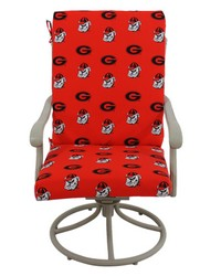 Georgia Bulldogs 2pc Chair Cushion by