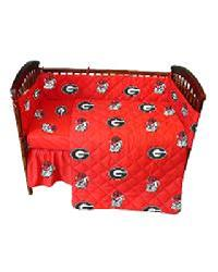 Georgia Bulldogs Crib Bedding Set by